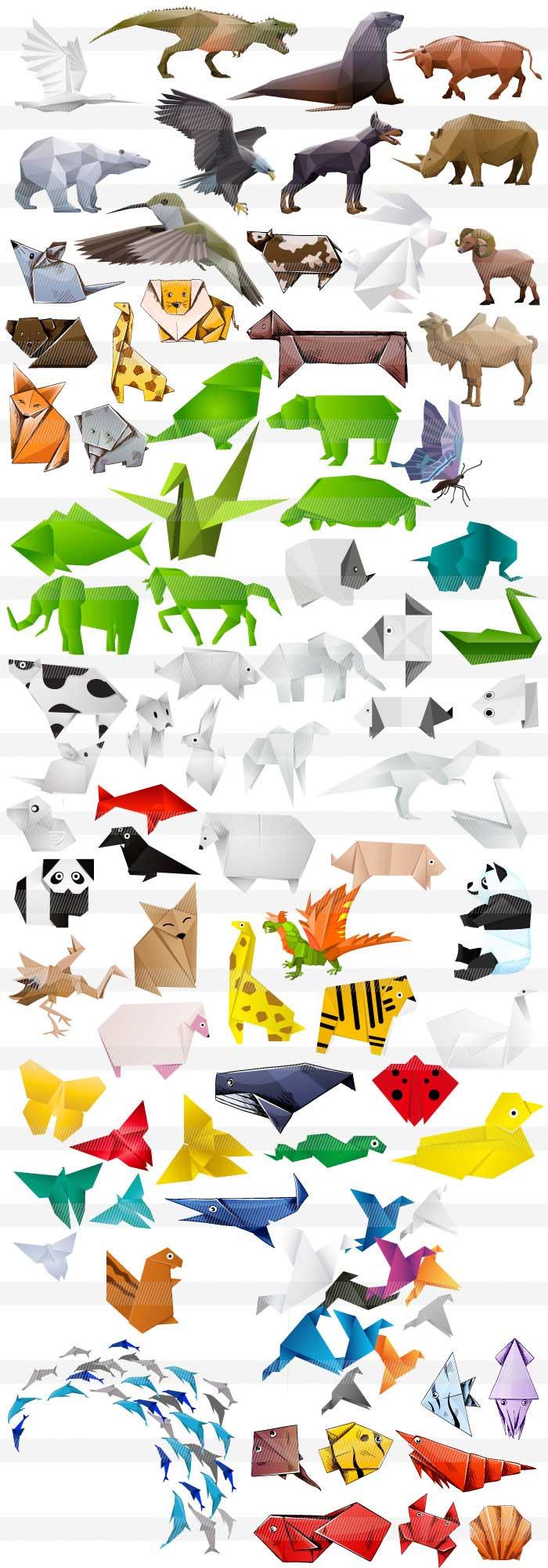 すべての折り紙 折り紙 可愛い キャラクター : 折り紙の動物のイラスト 商用 ...