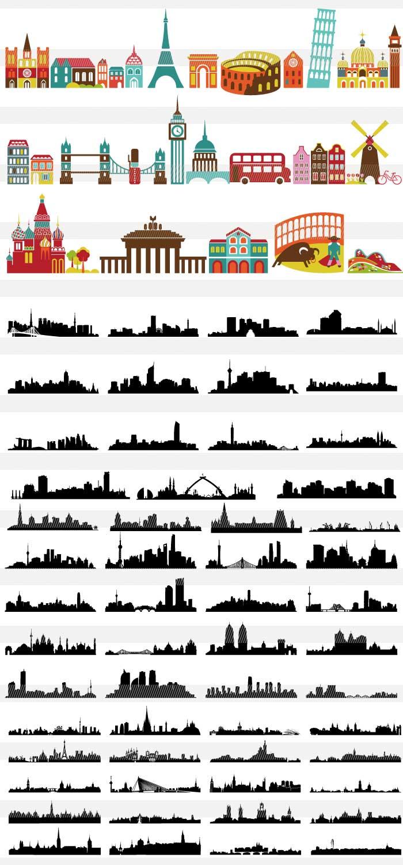 世界の有名建造物と街並み