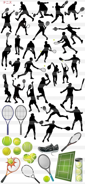 テニス・ボレー・テニスコート・ラケット