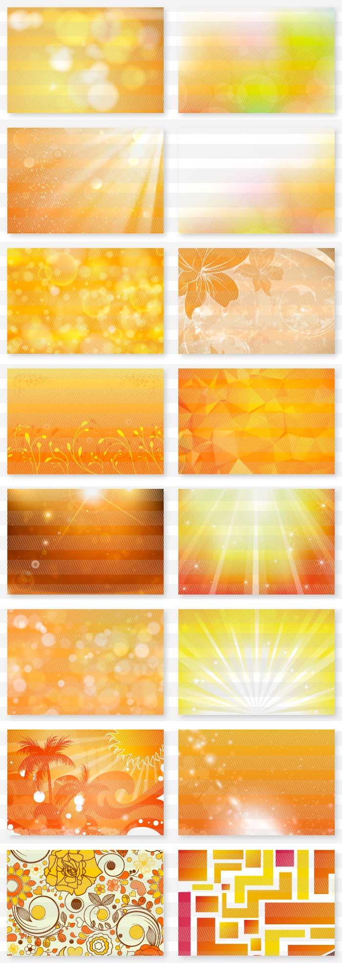 オレンジと赤のイラスト背景素材|イラストレーター素材(ai・eps・商用可能)