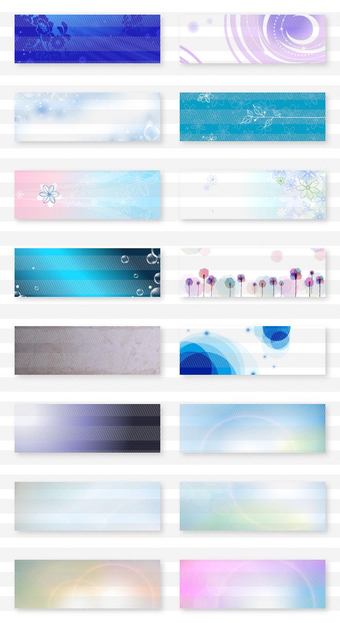 青色・水色・紺色のチケット・バナー背景|イラストレーター素材(ai