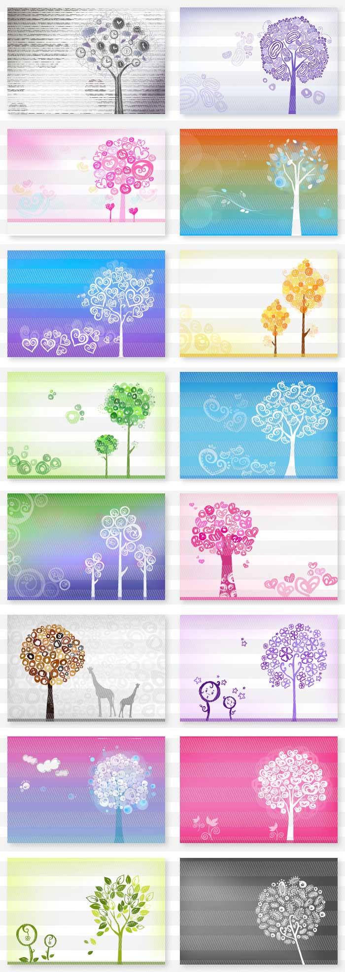 木・樹木の背景素材