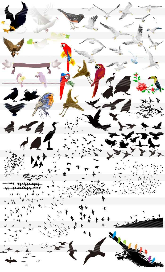 鳥のイラスト|イラストレーター素材(ai・eps・商用可能)