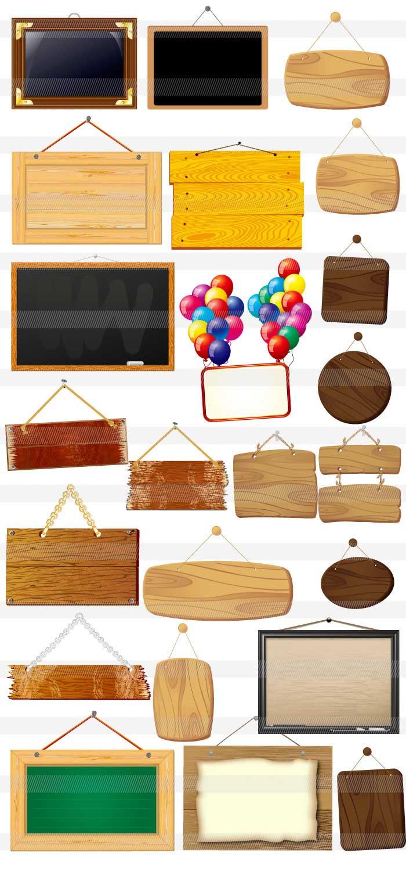 黒板・ボードのイラスト|イラストレーター素材(ai・eps・商用可能)