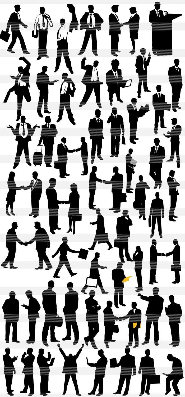 サラリーマン・ol・ビジネス・会議中のシルエット|イラストレーター