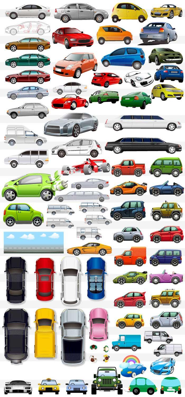 車乗り物のイラストイラストレーター素材aieps商用可能