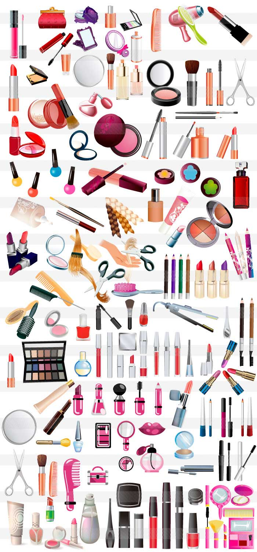 女子化粧品コスメのイラストイラストレーター素材aieps商用可能