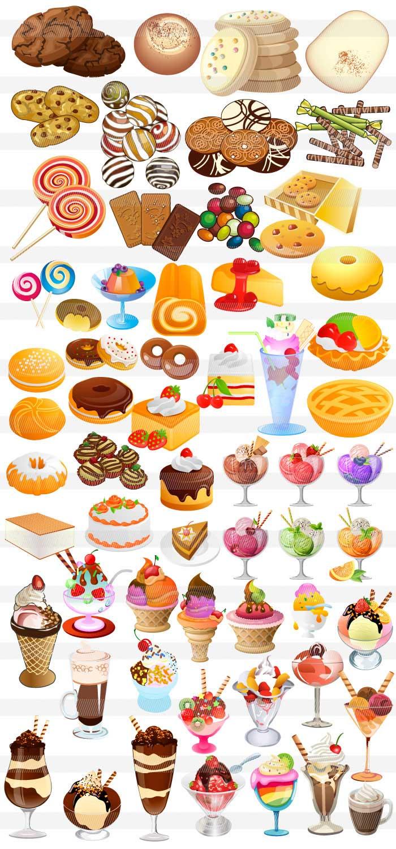 お菓子デザートケーキのイラストイラストレーター素材aieps