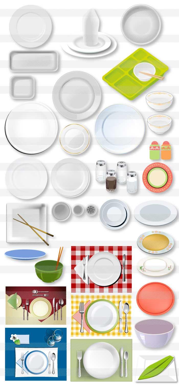 お皿と食器のイラスト