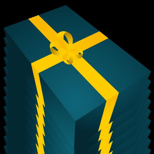 プレゼント箱のイラストイラストレーター素材aieps商用可能