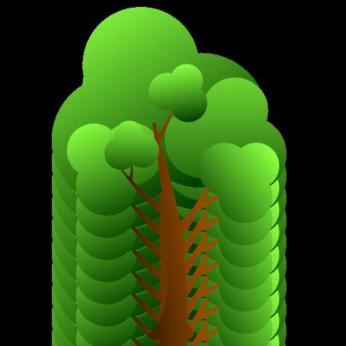 木イラストシルエットイラストレーター素材aieps商用可能