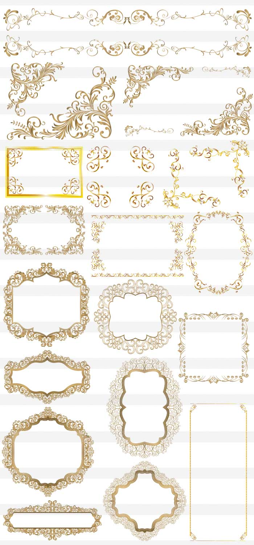 金色の豪華な高級フレーム枠