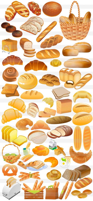 パン乳製品ファストフードのイラストイラストレーター素材aieps