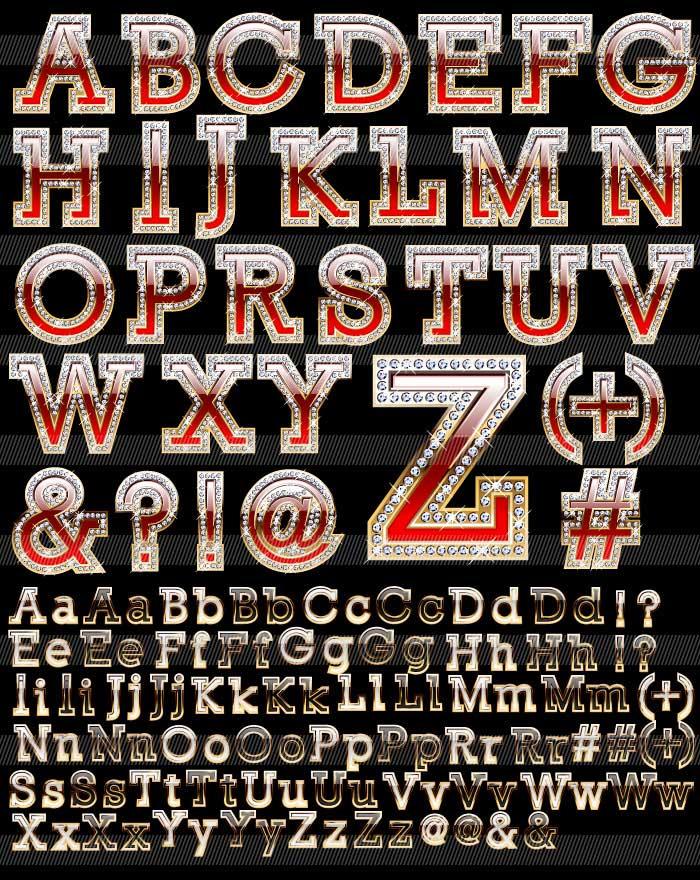 豪華なアルファベット