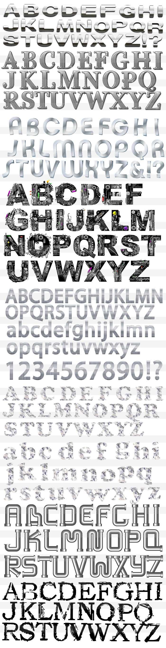 金属のアルファベット