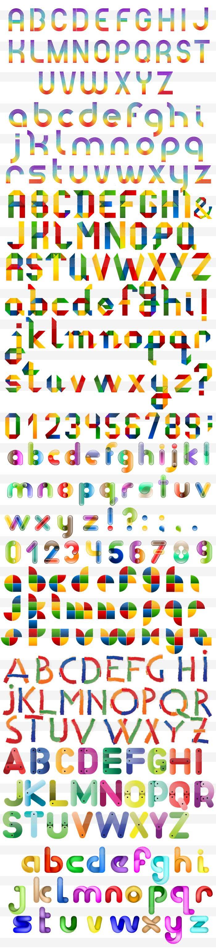 すべての折り紙 折り紙 花 立体 : 派手なアルファベット|商用OK ...