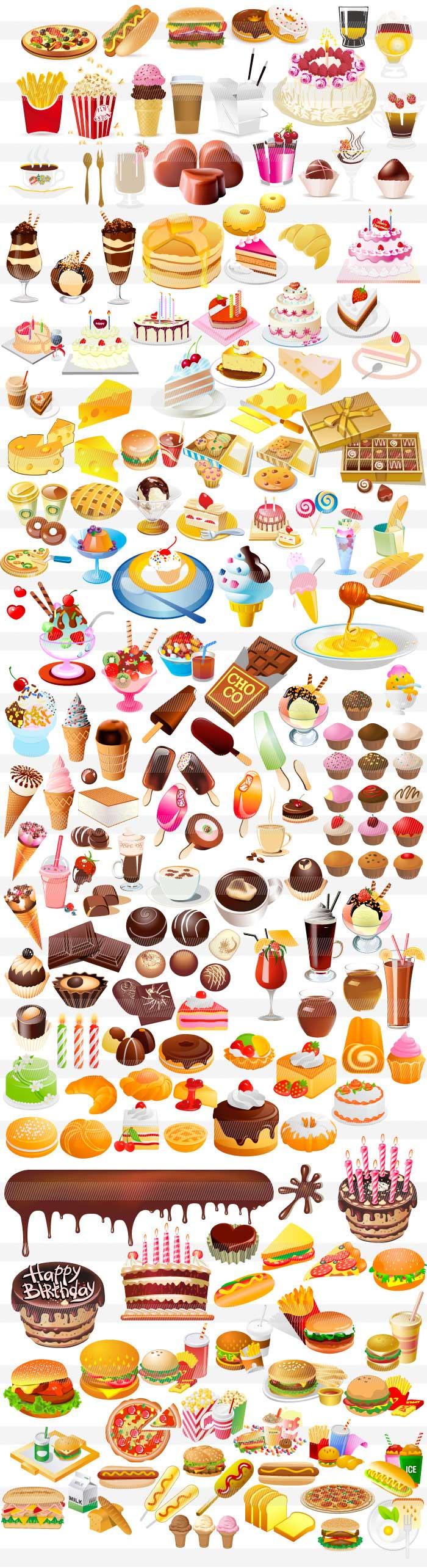 お菓子・デザート・ケーキのイラスト