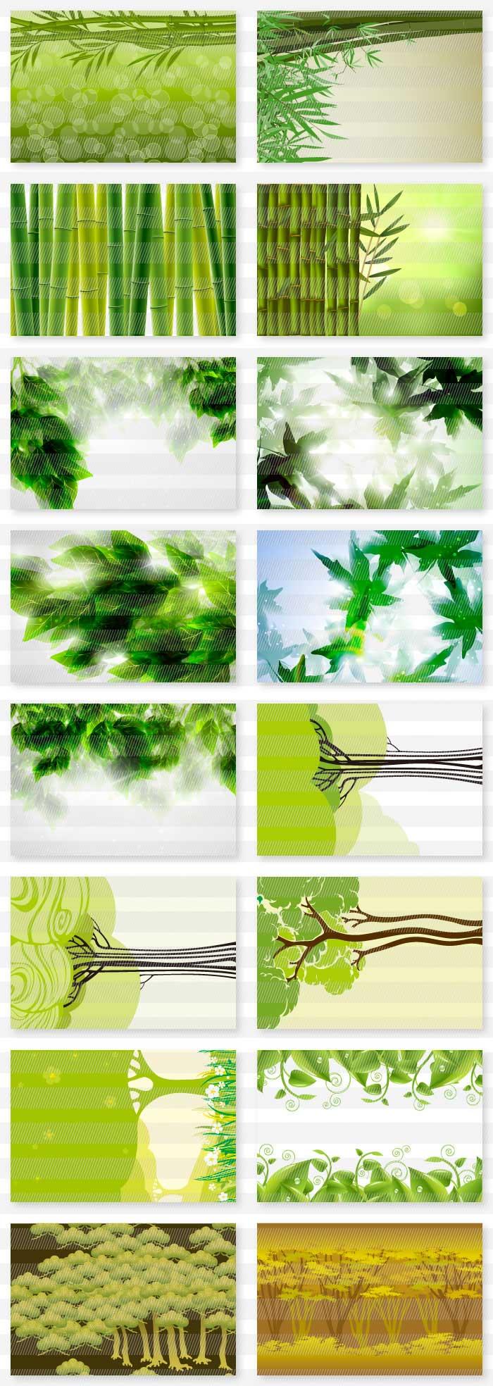 緑・葉・草木の風景の背景素材