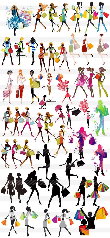 ハイヒールの女性シルエットの無料イラスト|ai・epsの無料