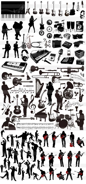 楽器音符音楽のイラストイラストレーター素材aieps商用可能