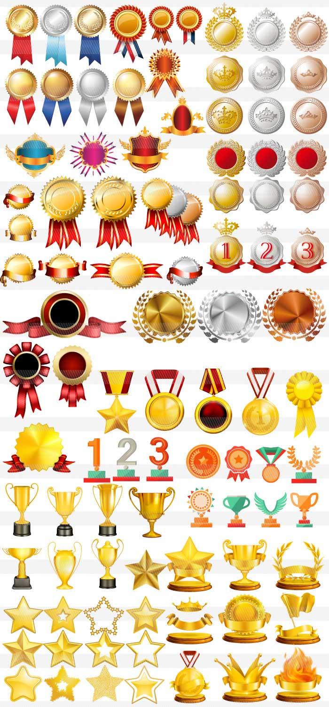 金メダル・銀メダル・銅メダル・トロフィー・星