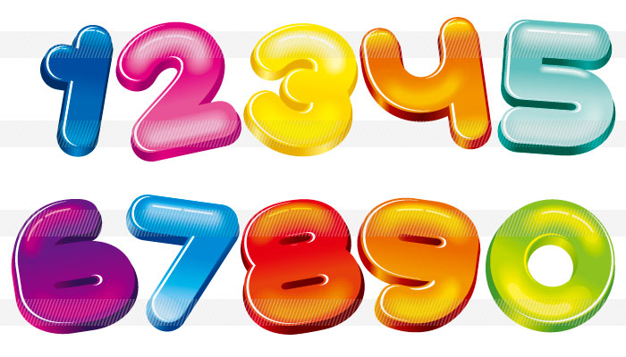 ポップでカラフルな数字の ... : カード 枠 デザイン 無料 : カード