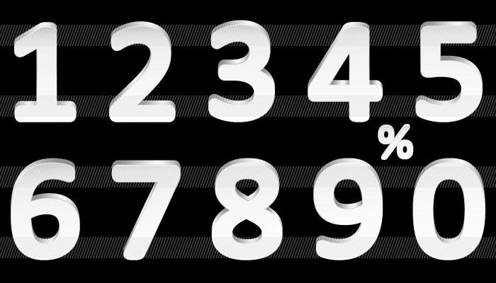 すべての折り紙 折り紙 立体 花 : 色々な数字のイラスト 商用OK ...