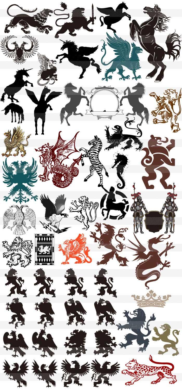 西洋風の紋章のイラスト