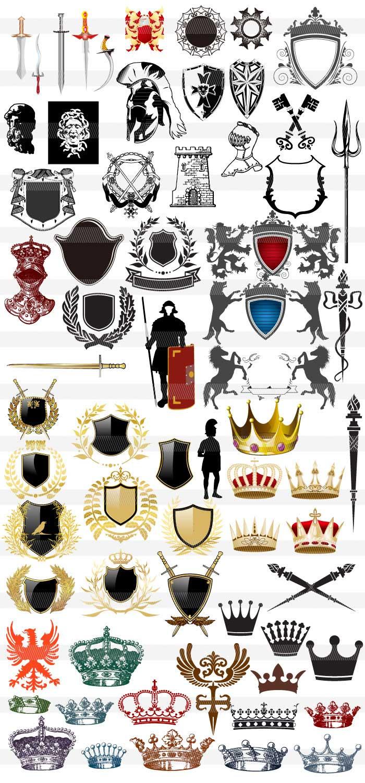 西洋風の紋章のイラスト イラストレーター素材(ai・eps・商用可能)