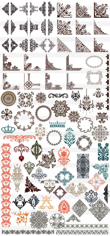 西洋風の紋章のイラスト|イラストレーター素材(ai・eps・商用可能)