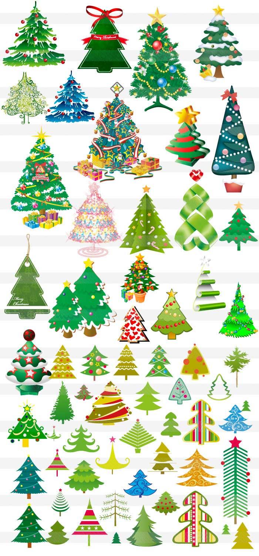 クリスマスツリーサンタのイラストイラストレーター素材aieps