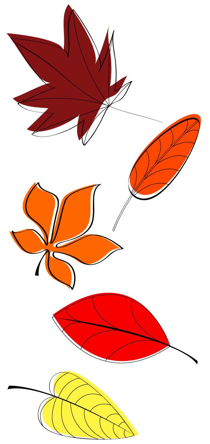 お洒落な秋のもみじの無料イラスト|イラストレーター素材(ai・eps・商用