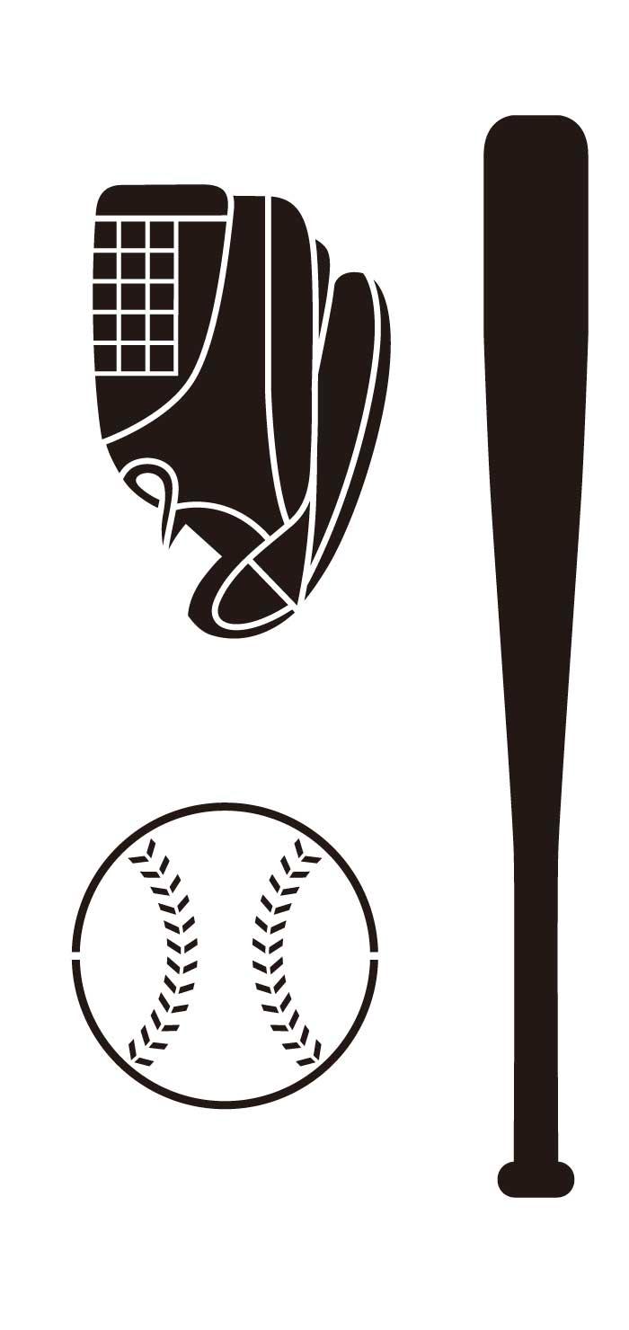 バット・グローブ・野球ボールの無料イラスト|イラストレーター素材(ai