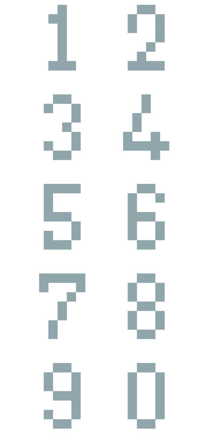 デジタル数字の無料イラスト イラストレーター素材(ai・eps・商用可能)