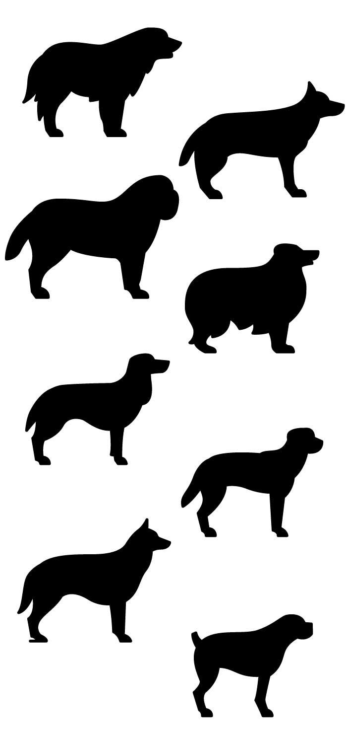 犬のシルエットの無料イラスト|イラストレーター素材(ai・eps・商用可能)