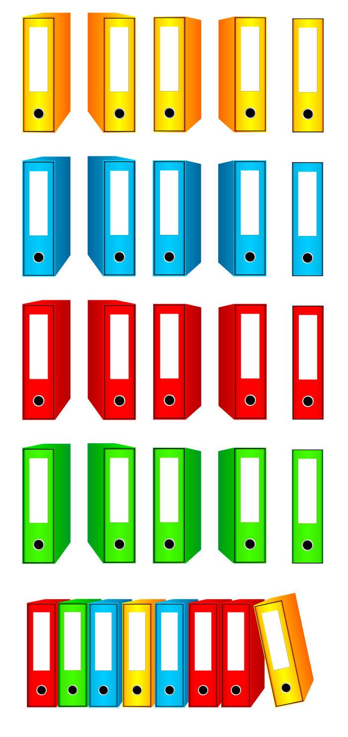 ファイル・バインダーの無料イラスト|イラストレーター素材(ai・eps