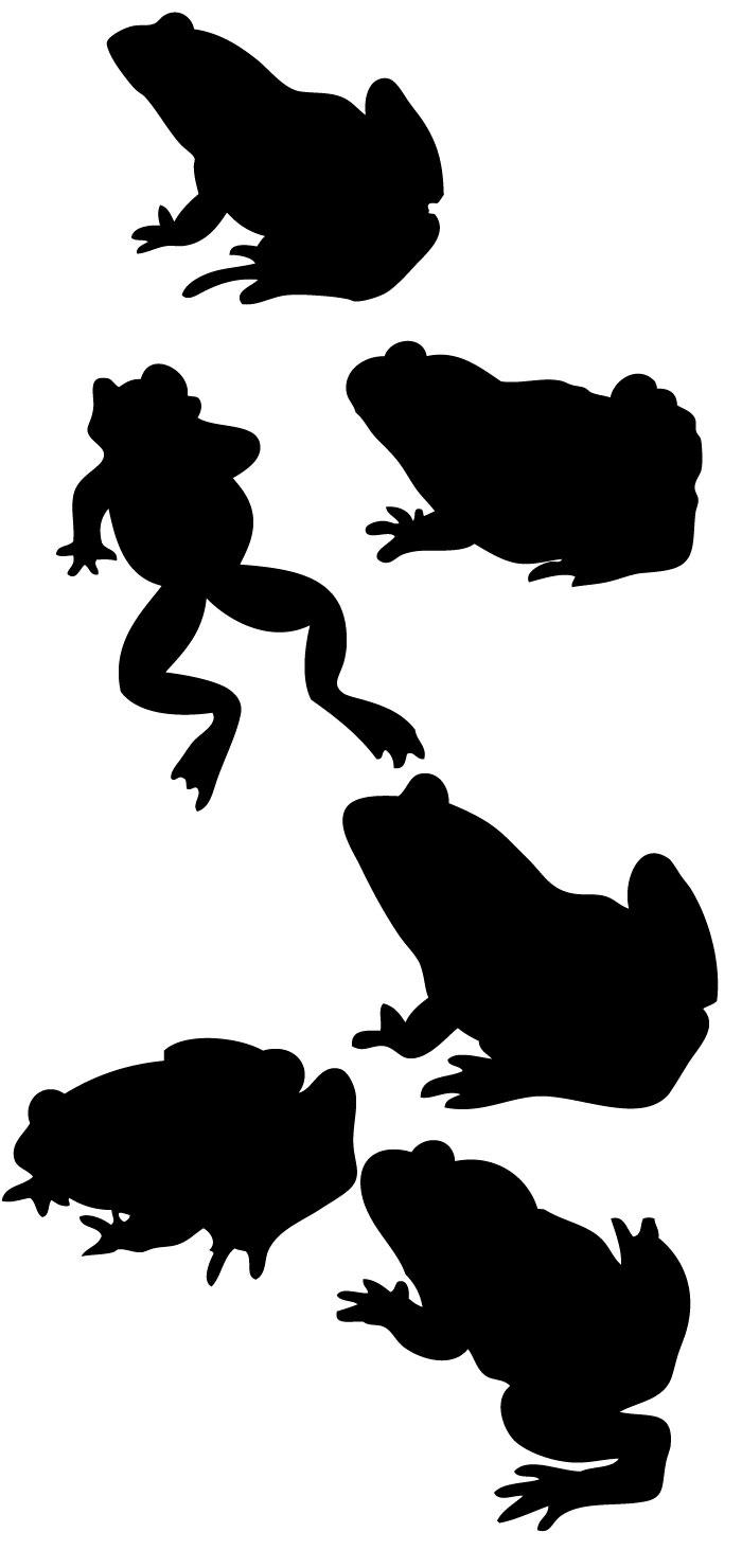 カエルのシルエットの無料イラストイラストレーター素材aieps商用