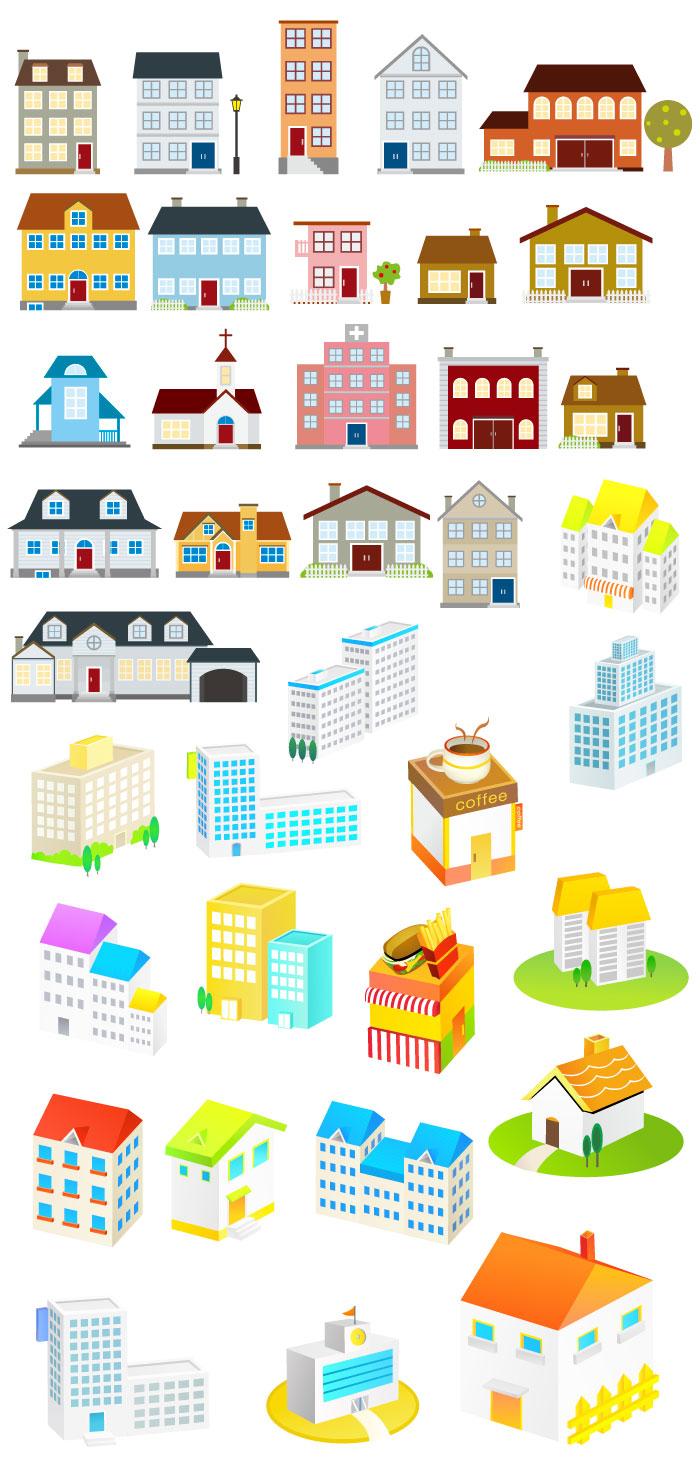 家のアイコンの無料イラスト|イラストレーター素材(ai・eps・商用可能)