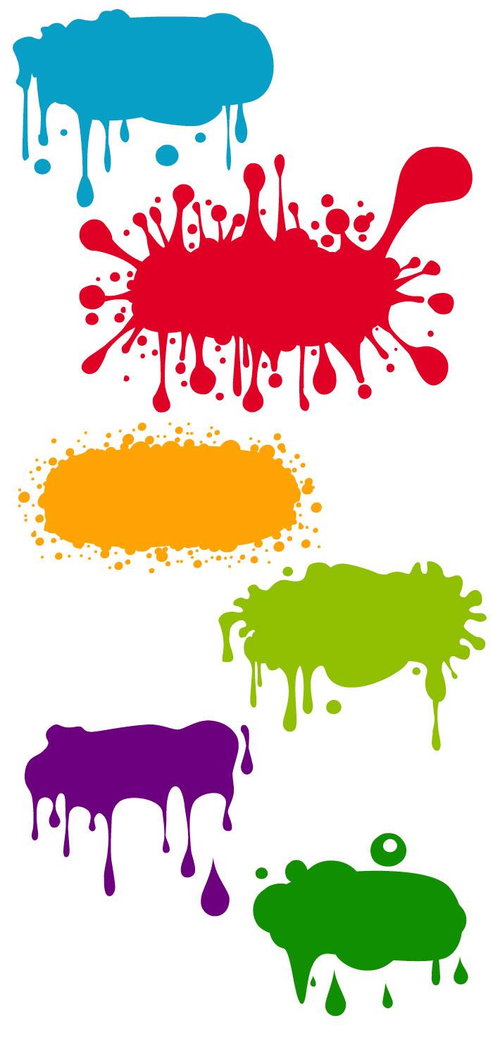 インク・絵の具が落ちた時のしぶきの無料イラスト|イラストレーター