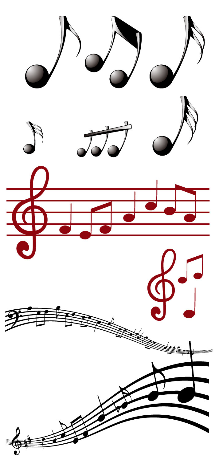 音符 楽譜の無料イラスト イラストレーター素材 Ai Eps 商用可能
