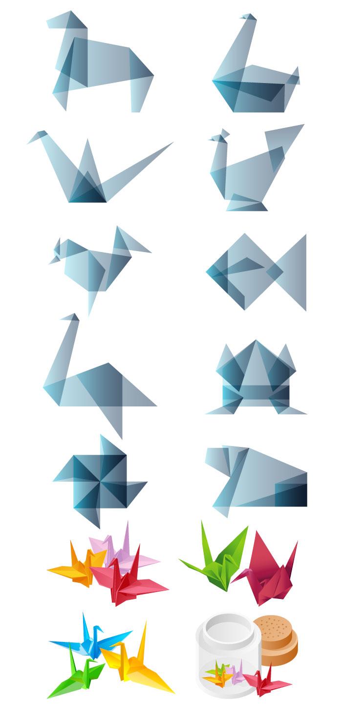 すべての折り紙 立体的な折り紙 : 折り紙・折り鶴の無料イラスト ...