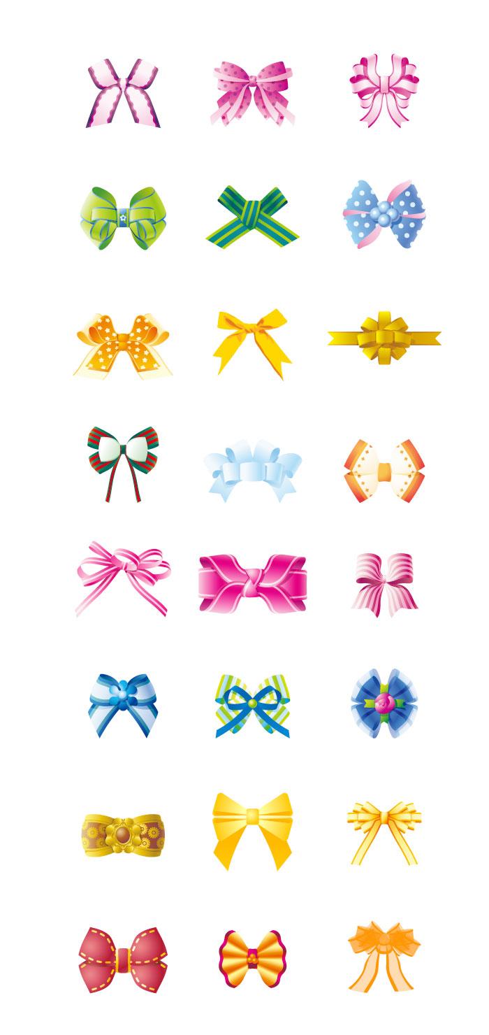 蝶結びのリボンの無料イラスト|イラストレーター素材(ai・eps・商用可能)