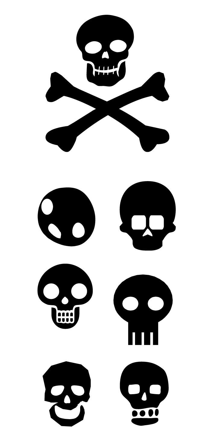 ドクロ・スカルの無料イラスト|イラストレーター素材(ai・eps・商用可能)