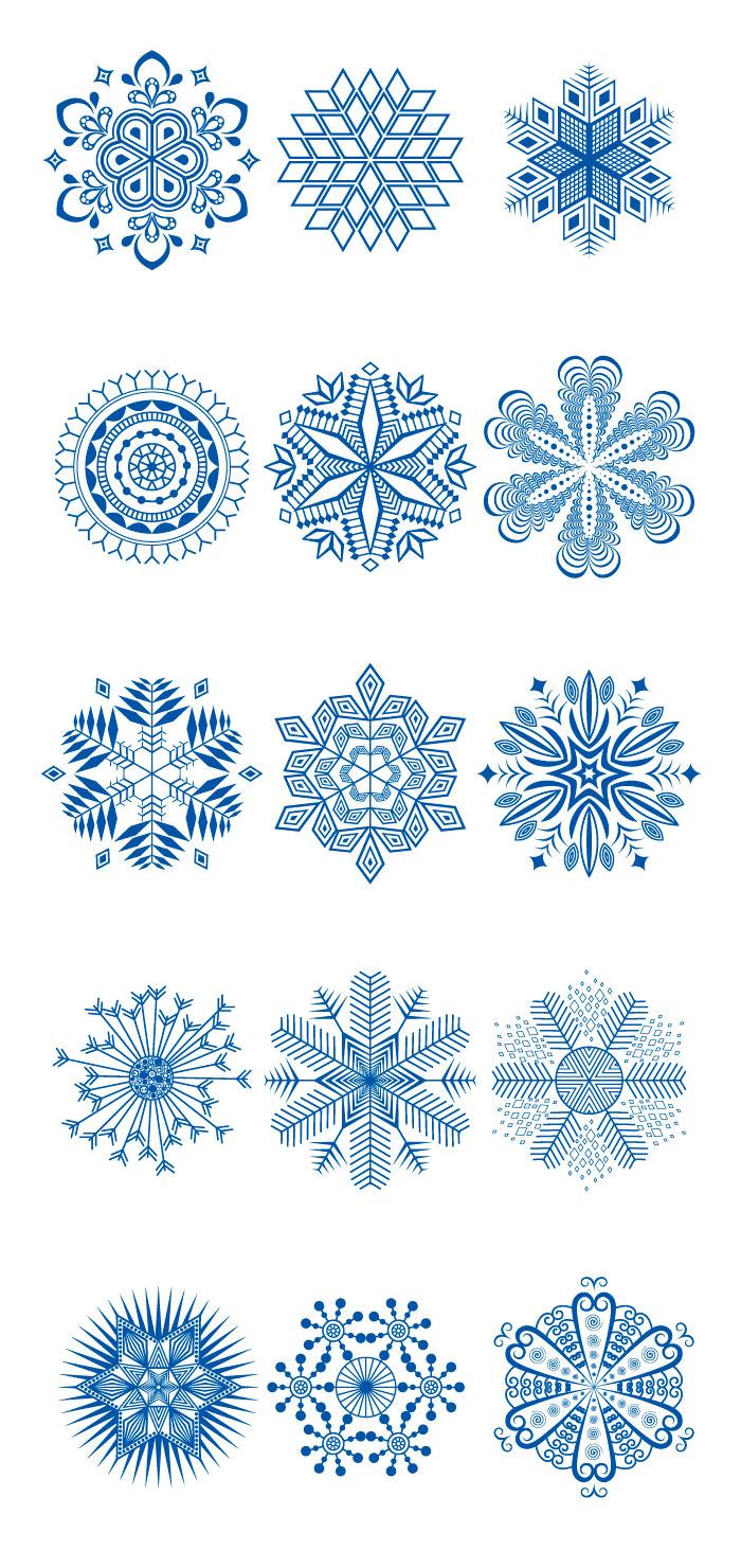 雪の結晶の無料イラスト|イラストレーター素材(ai・eps・商用可能)
