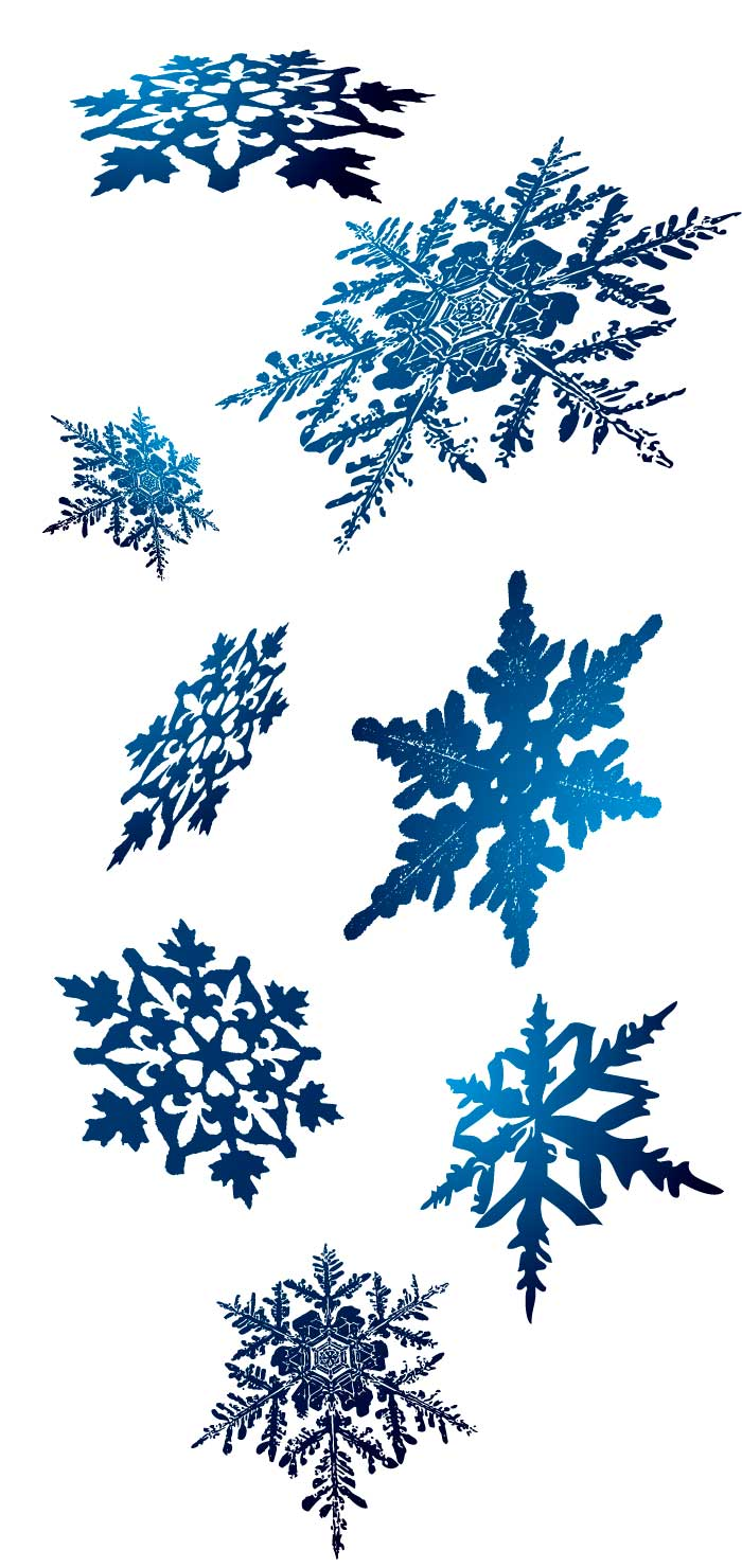 立体的な雪の結晶の無料イラスト|イラストレーター素材(AI・EPS
