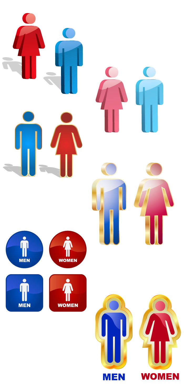 トイレのマークの無料イラスト|イラストレーター素材(ai・eps・商用可能)