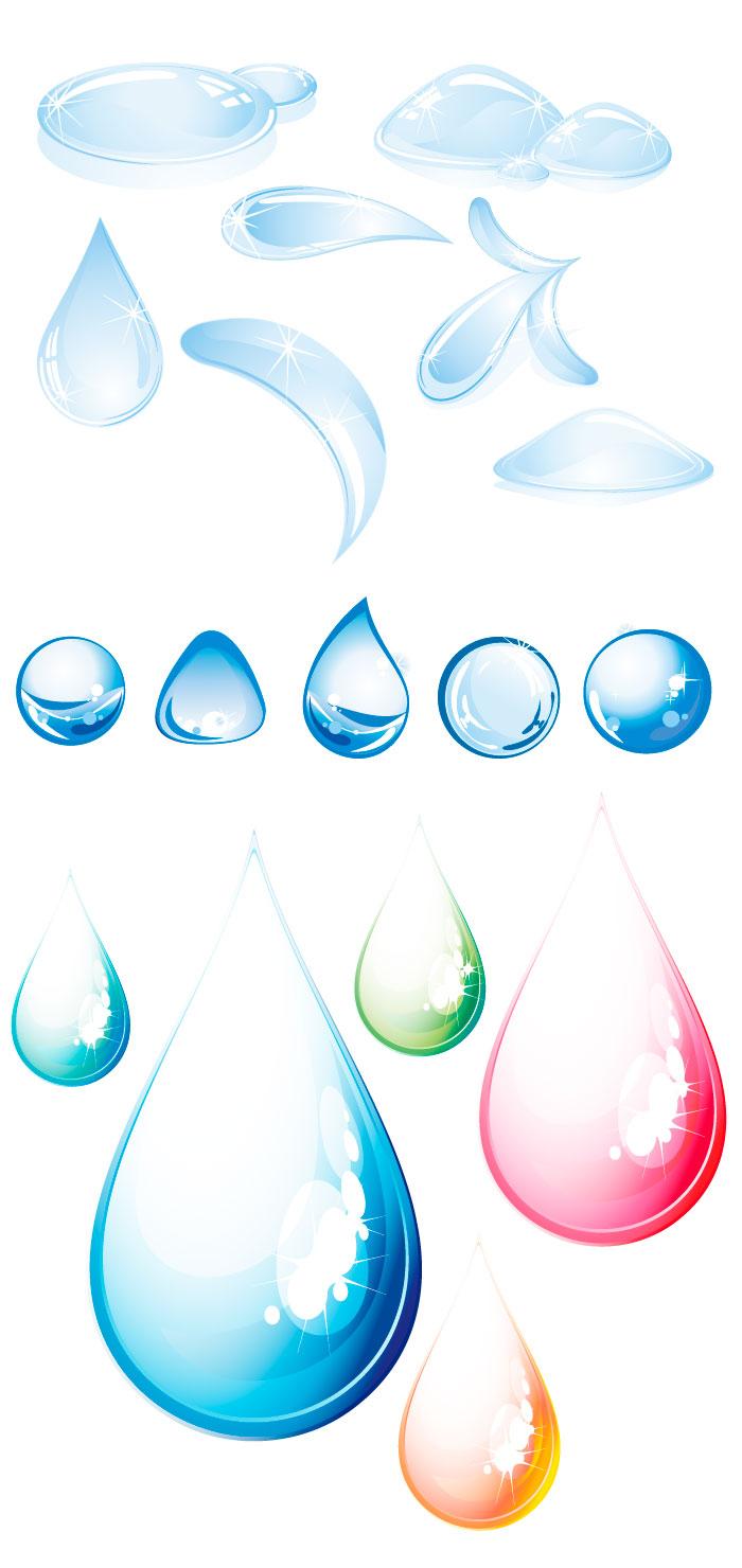 水滴雫の無料イラストイラストレーター素材aieps商用可能